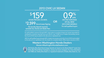 2013 Honda Civic LX Sedan TV Spot, 'Snow is Gonna Blow' Ft. Michael Bolton - Thumbnail 9