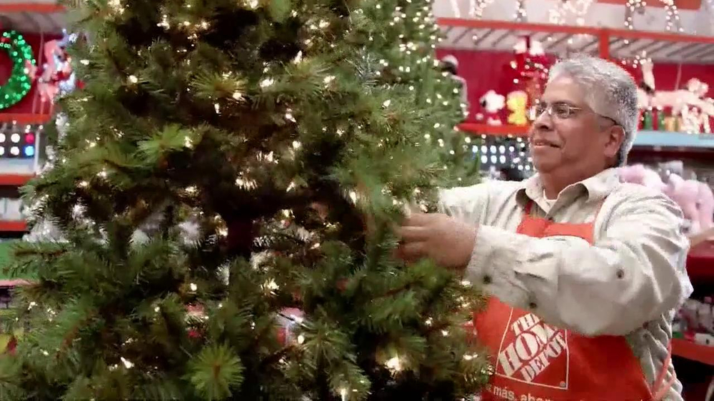 the home depot tv commercial holiday decorations ispottv - Home Depot Christmas Decorations