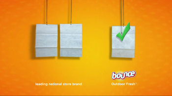 Bounce Outdoor Fresh TV Spot, 'Comparison' - Thumbnail 4