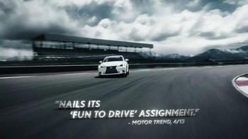 Lexus IS F Sport TV Spot, 'Track Honed' - Thumbnail 4