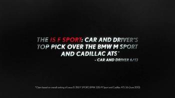 Lexus IS F Sport TV Spot, 'Track Honed' - Thumbnail 9