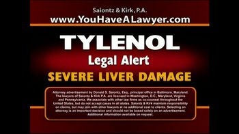 Saiontz & Kirk, P.A. TV Spot, 'Tylenol'