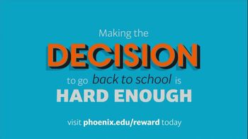 University of Phoenix Scholarship Reward Program TV Spot