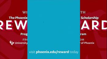 University of Phoenix Scholarship Reward Program TV Spot - Thumbnail 9