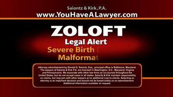 Saiontz & Kirk, P.A. TV Spot, 'Zoloft'