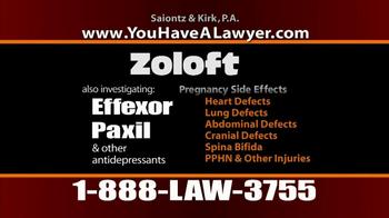 Saiontz & Kirk, P.A. TV Spot, 'Zoloft' - Thumbnail 10