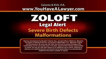 Saiontz & Kirk, P.A. TV Spot, 'Zoloft' - Thumbnail 3
