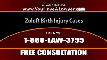 Saiontz & Kirk, P.A. TV Spot, 'Zoloft' - Thumbnail 5