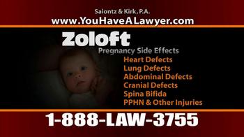 Saiontz & Kirk, P.A. TV Spot, 'Zoloft' - Thumbnail 6