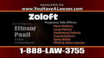 Saiontz & Kirk, P.A. TV Spot, 'Zoloft' - Thumbnail 8