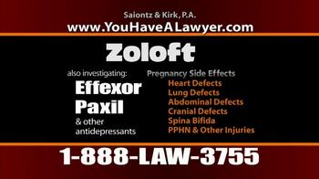 Saiontz & Kirk, P.A. TV Spot, 'Zoloft' - Thumbnail 9