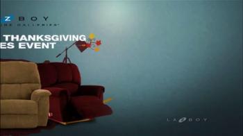 La-Z-Boy National Thanksgiving Sale TV Spot - Thumbnail 1