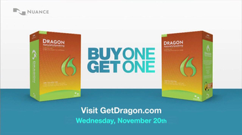 Nuance Dragon TV Spot, 'Buy One, Get One'