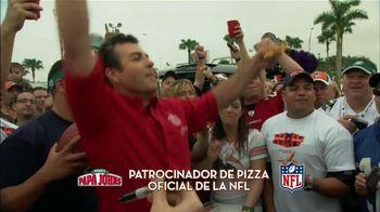 Papa John's Italian Meats & Four Cheese Pizza TV Spot, 'NFL' [Spanish] - 4 commercial airings