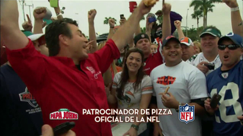 Papa John's Italian Meats & Four Cheese Pizza TV Spot, 'NFL' [Spanish] - Thumbnail 2