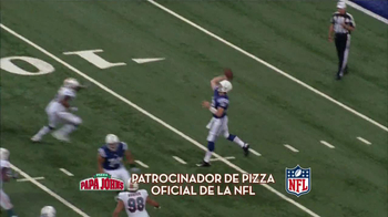 Papa John's Italian Meats & Four Cheese Pizza TV Spot, 'NFL' [Spanish] - Thumbnail 3