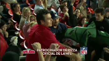 Papa John's Italian Meats & Four Cheese Pizza TV Spot, 'NFL' [Spanish] - Thumbnail 5