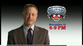 Golden Corral Military Appreciation Monday TV Spot Featuring Gary Sinise - Thumbnail 1
