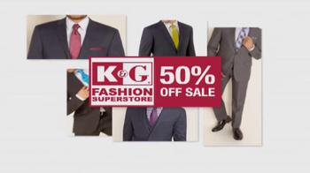 K&G Fashion Superstore 50% Off Sale TV Spot, 'Ready, Set, Celebrate' - Thumbnail 4