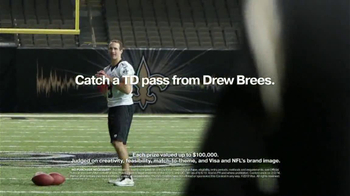 VISA Football Fantasy TV Spot, 'Touchdown Pass' Feat. Drew Brees - Thumbnail 10