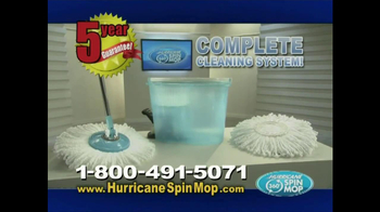 Hurricane Spin Mop TV Spot, 'Clean Water'