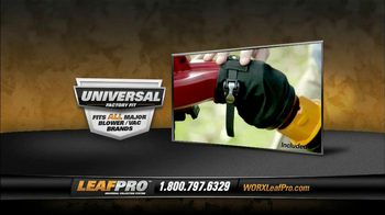 LeafPro Worx TV Spot, 'Universal Adapters' - Thumbnail 3