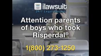iLawsuit Legal Hotline TV Spot, 'Risperdal' - Thumbnail 2