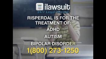 iLawsuit Legal Hotline TV Spot, 'Risperdal' - Thumbnail 4