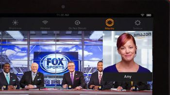 Amazon Kindle Fire HDX TV Spot, 'Fox Football' Featuring Curt Menefee - 18 commercial airings