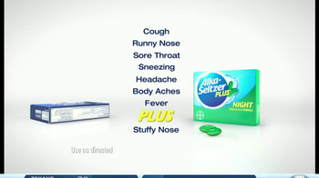 Alka-Seltzer Plus Night TV Spot, 'The Cold Truth: Airplane' - Thumbnail 8