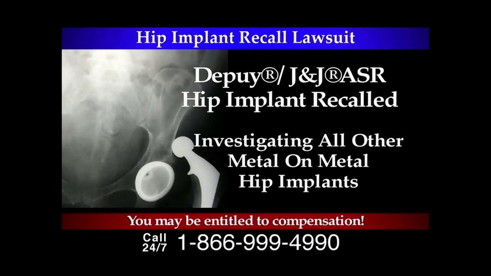 Lee Murphy Law TV Commercial, 'Hip Implant Recall' - Video