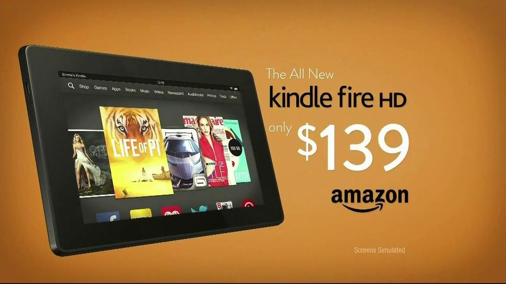 Amazon Kindle Fire HD TV Commercial, Song by The New Division - Video