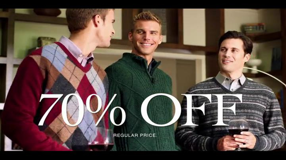 JoS. A. Bank TV Commercial, 'December 2013 Last Minute 70% Off Event'