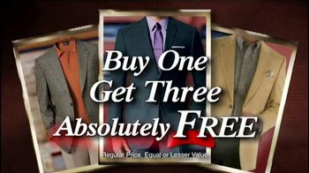 JoS. A. Bank TV Spot, 'Buy One, Get Three Free: Suits and Sports Coats'