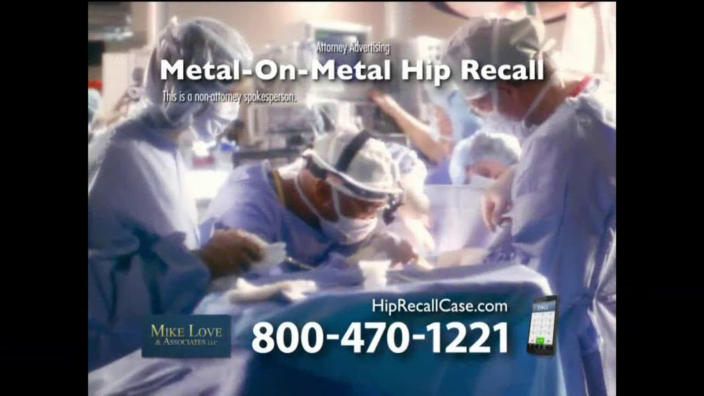 Pulaski Law Firm >> Lee Murphy Law TV Commercial, 'Metal Hip Recall' - iSpot.tv