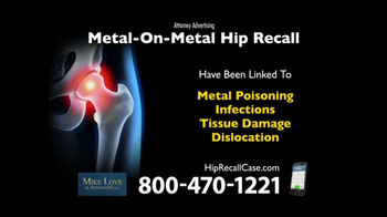 Lee Murphy Law TV Spot, 'Metal Hip Recall'