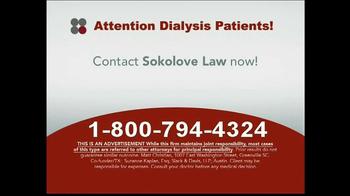 Sokolove Law TV Spot, 'Dialysis Patients'