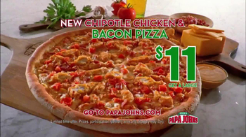 Papa John's Chipotle Chicken & Bacon Pizza TV Spot - Thumbnail 3