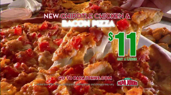 Papa John's Chipotle Chicken & Bacon Pizza TV Spot - Thumbnail 4