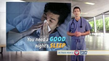 Simply Saline TV Spot, 'Sleep' Featuring Dr. Travis Stork - Thumbnail 3