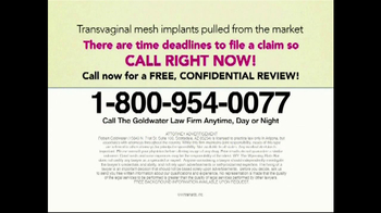 Goldwater Law Firm TV Spot, 'Transvaginal Mesh Implant Awards' - Thumbnail 10