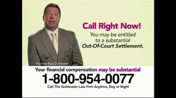 Goldwater Law Firm TV Spot, 'Transvaginal Mesh Implant Awards' - Thumbnail 9