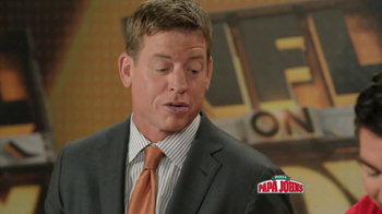 Papa John's Mega Chocolate Chip Cookie TV Spot Featuring Troy Aikman - Thumbnail 3