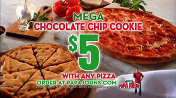 Papa John's Mega Chocolate Chip Cookie TV Spot Featuring Troy Aikman - Thumbnail 7