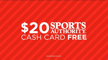 Sports Authority TV Spot, 'Unplug: Fitness, Cash Card' - Thumbnail 8