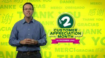 Subway Customer Appreciation Month TV Spot Feat. Jared Fogle, Apolo Ohno