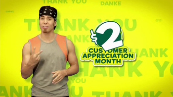Subway Customer Appreciation Month TV Spot Feat. Jared Fogle, Apolo Ohno - Thumbnail 9