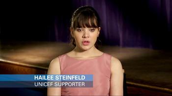 UNICEF USA TV Spot Featuring Hailee Steinfeld - Thumbnail 1