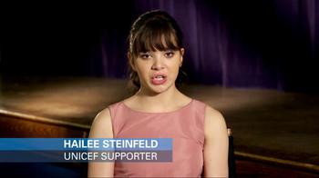 UNICEF USA TV Spot Featuring Hailee Steinfeld - Thumbnail 2