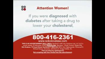 Sokolove Law TV Spot, 'Type 2 Diabetes, Cholesterol Medication' - Thumbnail 3